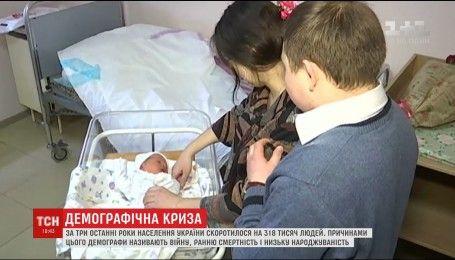 За три останні роки населення України скоротилося на 318 тисяч людей