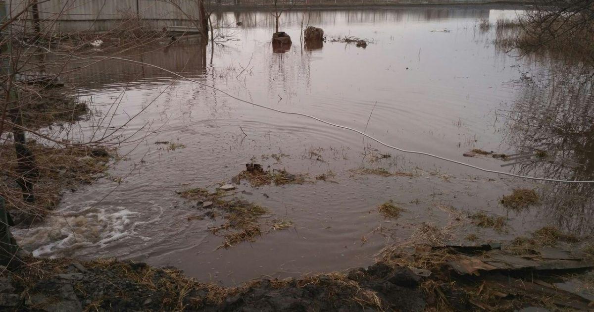 Підтоплене село на Дніпропетровщині