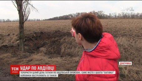 В Авдіївці під обстріли бойовиків ледь не потрапила знімальна група ТСН