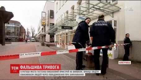 Взрывотехники не нашли бомбу в здании городской администрации Гаггенау