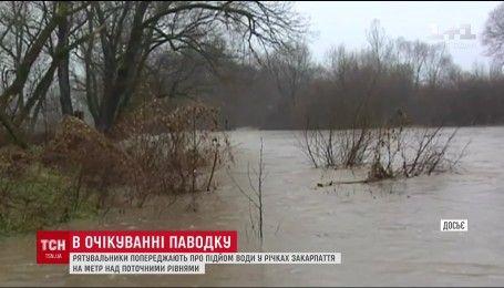 На Закарпатье предупреждают о наводнении