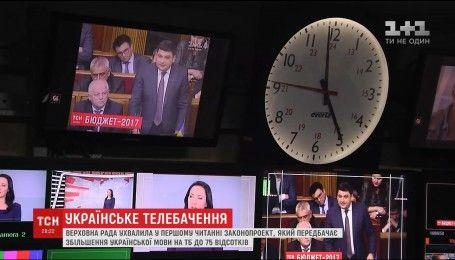 Не менше 75% передач на телебаченні йтимуть виключно українською мовою