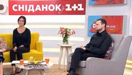 """Музичний продюсер Руслан Квінта та його обранниця співачка Нана завітали до """"Сніданку з 1+1"""""""