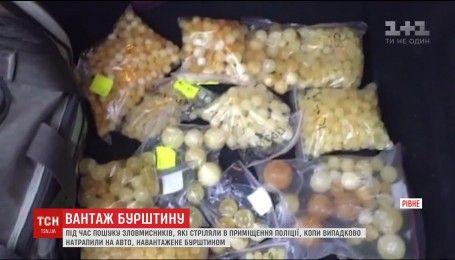 В Ровно во время перехвата стрелков полиция задержала янтарных копателей