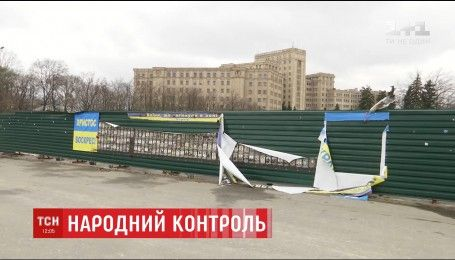 Харьковчане самостоятельно выследили вандалов, которые испортили мемориал героям АТО