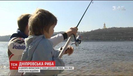 В Международный день воды с помощью меценатов в Днепр выпустили 5 тонн воды