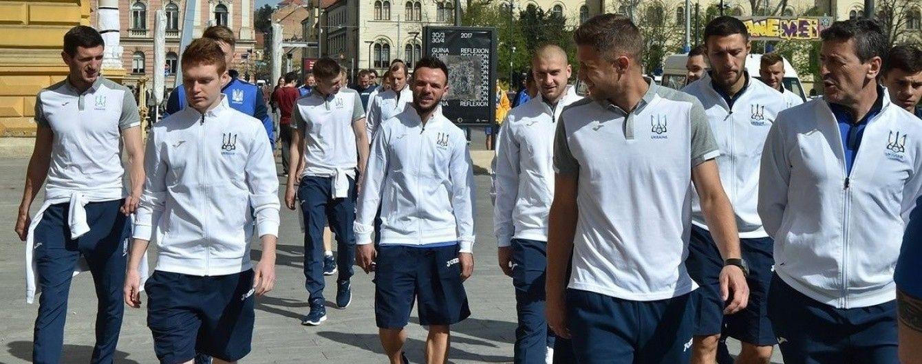 Украинские футболисты прогулялись по солнечному Загребу перед ключевой битвой отбора ЧМ-2018