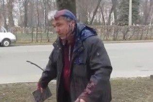 В Полтаве депутату горсовета облили голову краской
