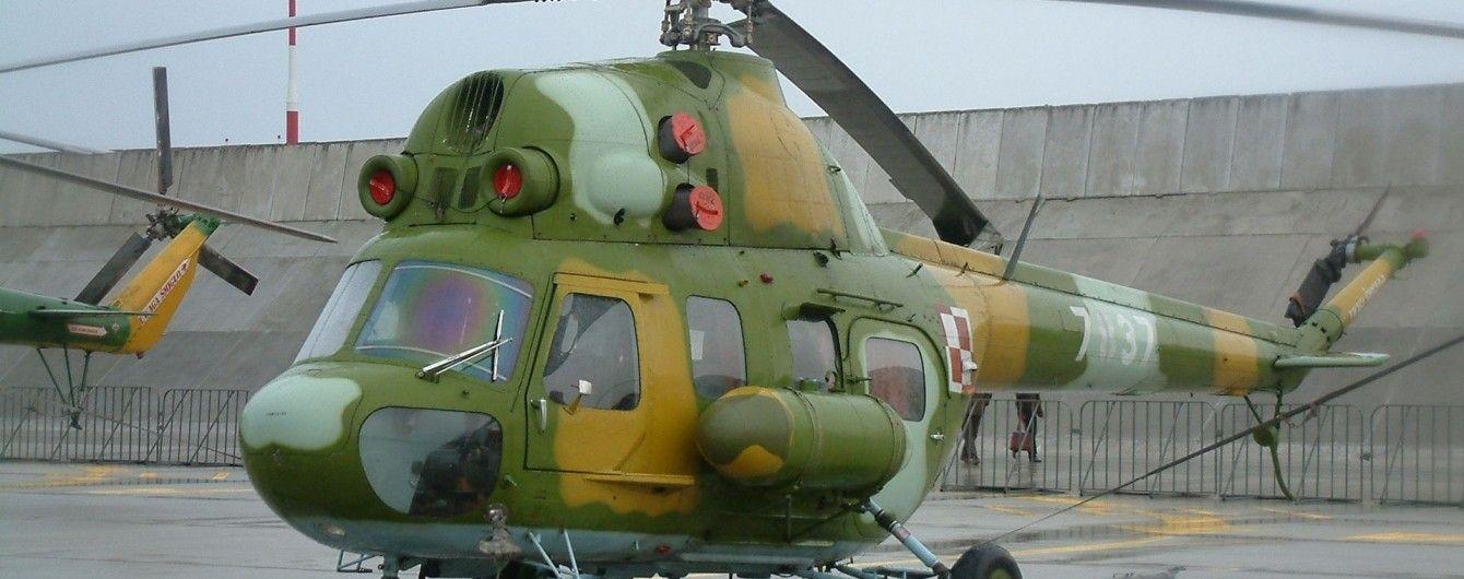 На Львовщине разбился военный вертолет Ми-2