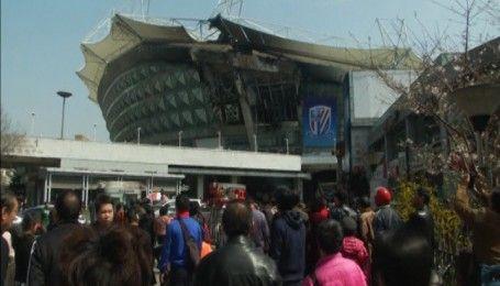 В Китае горел стадион Шанхай Шэньхуа