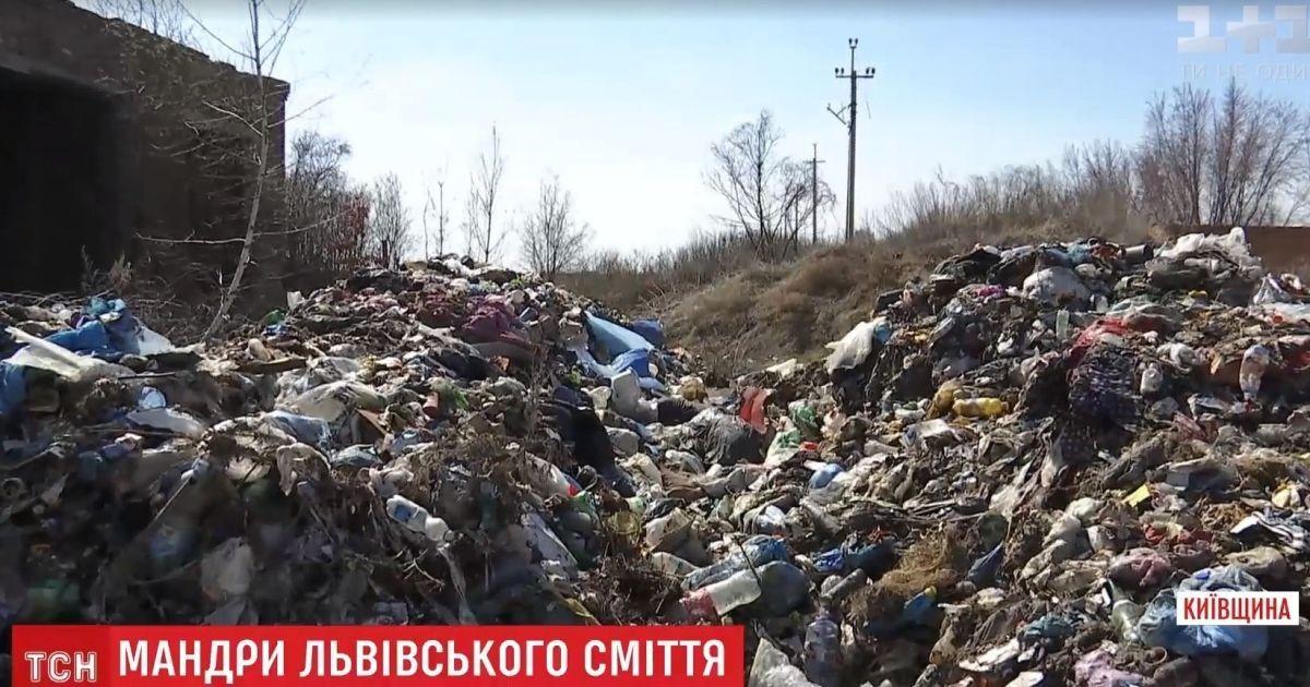 Сумнозвісне львівське сміття нелегально вивантажили під Києвом