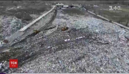 В Житомире произошел пожар на мусорном полигоне