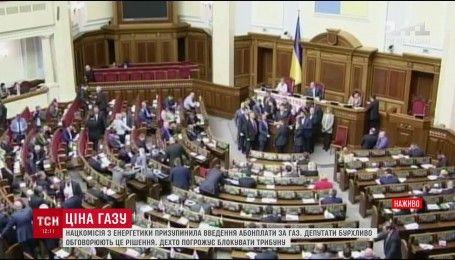 У ВР депутати виступили проти запровадження абонплати на газ