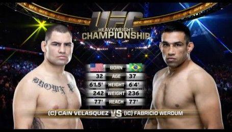 UFC. Фабрисио Вердум - Кейн Веласкес. Видео боя