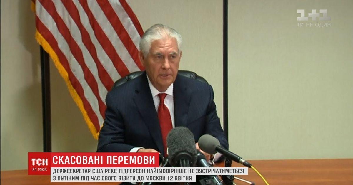 7d8d2e9ffd2c Видео - Госсекретарь США отказался говорить с Путиным - Страница видео
