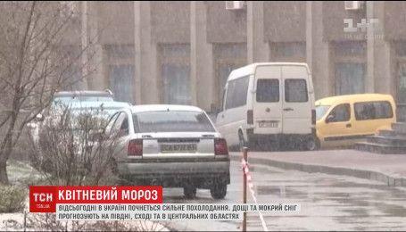 Снег и мороз надвигается на Украину