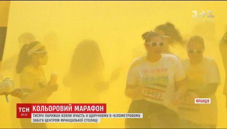 Тысячи людей приняли участие в ежегодном цветном забеге в Париже