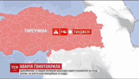 У Туреччині розбився поліцейський гелікоптер, є загиблі