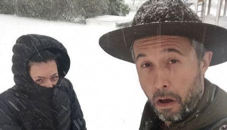 Замерзшие Бабкин и Фагот показали снежный апокалипсис в Харькове