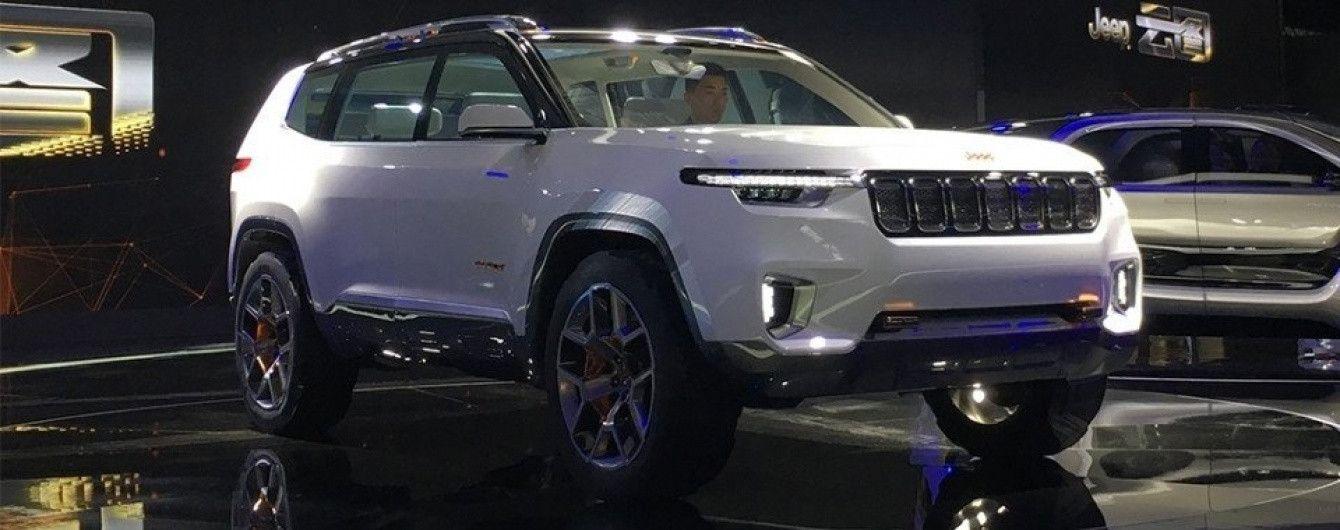 Американцы привезли в Шанхай концептуальный кроссовер Jeep Yuntu
