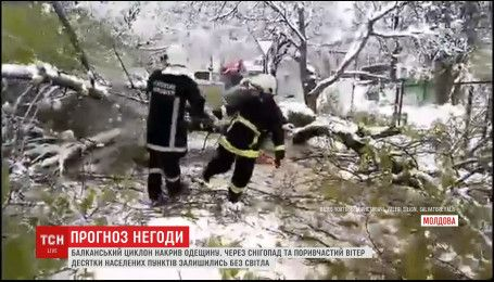 В Кишиневе из-за сильных снегопадов и шквалистого ветра ввели чрезвычайное положение