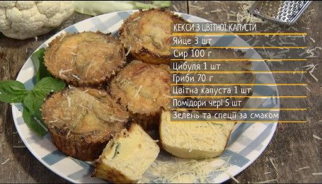 Кексы из цветной капусты - рецепты Сеничкина