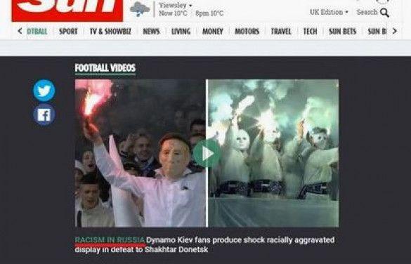 помилка британських змі про расизм в україні росії