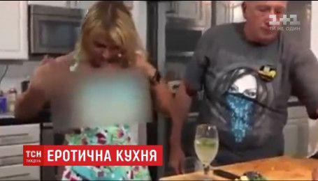 Ведущая кулинарного шоу итальянского телеканала обнажилась в эфире