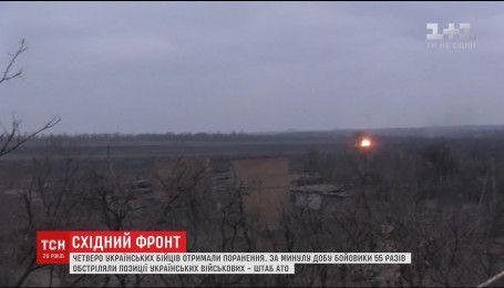 С минометов и гранатометов боевики палят по всей линии разграничения
