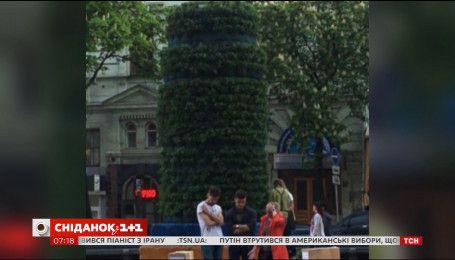 Постамент от киевского памятника Ленину озеленили