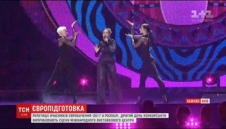 В столичном МВЦ второй день проходят репетиции Евровидения