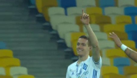 Динамо - Александрия - 6:0. Видео гола Цыганкова