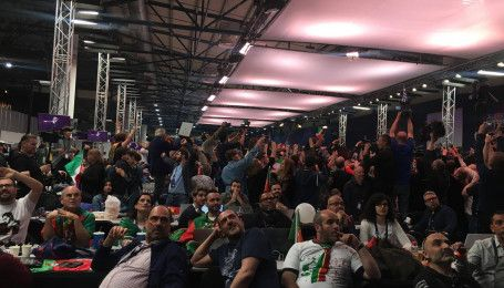 """Фінал """"Євробачення-2017"""": як у прес-центрі слухали виступ представника Італії Франческо Габбані"""