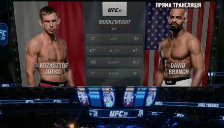 UFC. Кшиштоф Йотко – Девід Бренч. Відео бою