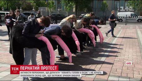 """""""Страуси"""" вимагають під Верховною Радою оновити склад ЦВК"""