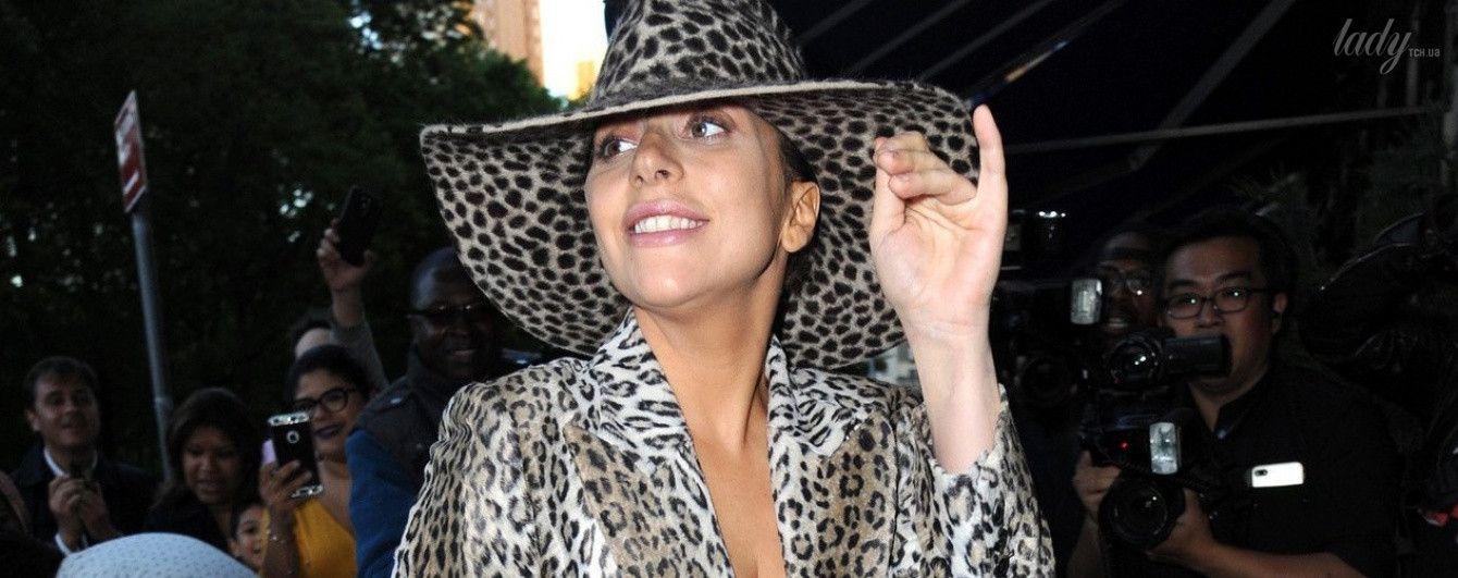 В леопарде с ног до головы: новый выход Леди Гаги в Нью-Йорке