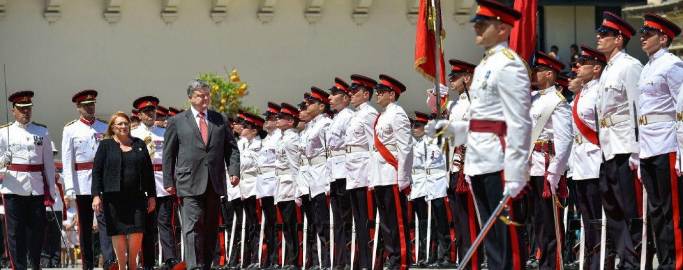 Порошенко впервые официально посетил Мальту. Что стоит знать о договоренности президентов