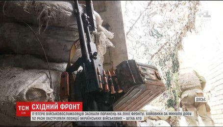 Боевики устроили плотный обстрел украинских позиций