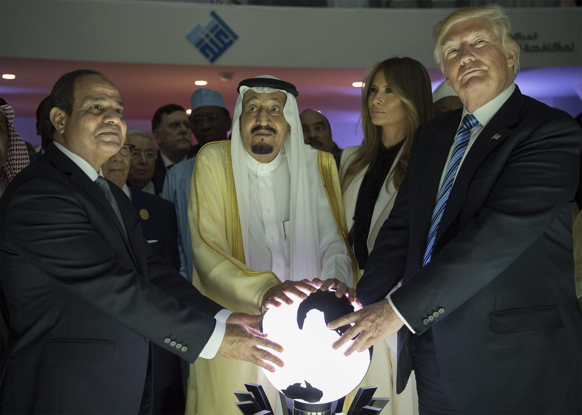 Дональд Трамп та король Саудівської Аравії Салман