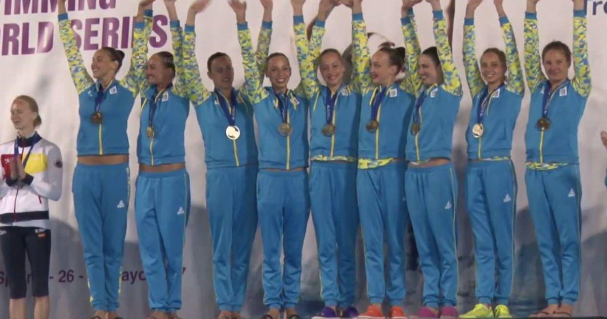 Українські синхроністки завоювали п'ять медалей на етапі Світової серії в Іспанії