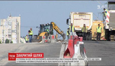 К концу лета проспект Победы превратится в сплошную пробку