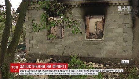 Неподалеку Марьинки боевики обстреливают насосную станцию №1
