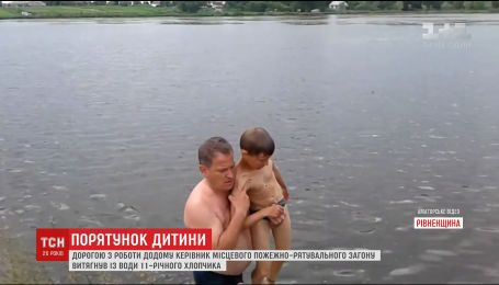 11-річний хлопчик ледь не втопився у ставку, розплутуючи ліску вудочки