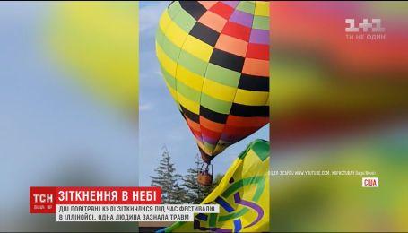 На фестивале в США из-за ветра столкнулись два воздушных шара