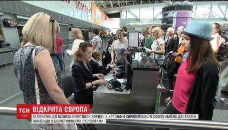 Майже 2 тисячі українців перетнули кордон з ЄС за біометричними паспортами
