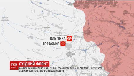 Жителі Ольгінки через обстріли бойовиків провели ніч у підвалах