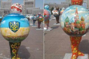 У Казахстані замалювали скандальну карту України без Криму