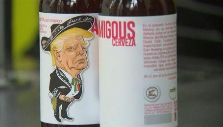 Новую линию пива из Мексики украсил нахмуренный Дональд Трамп в сомбреро