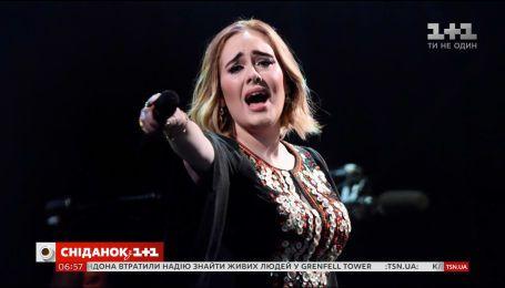 Британская певица Адель помогала пожарным в Лондоне спасать людей