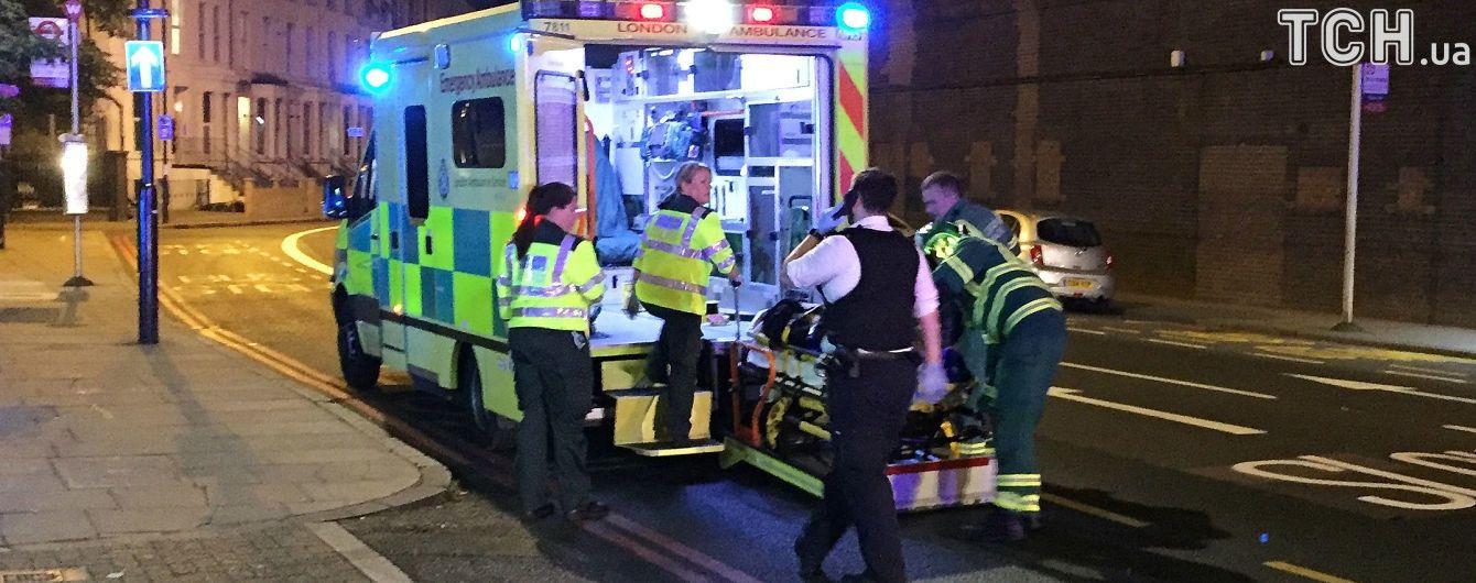 В Лондоне трех человек облили неизвестным веществом